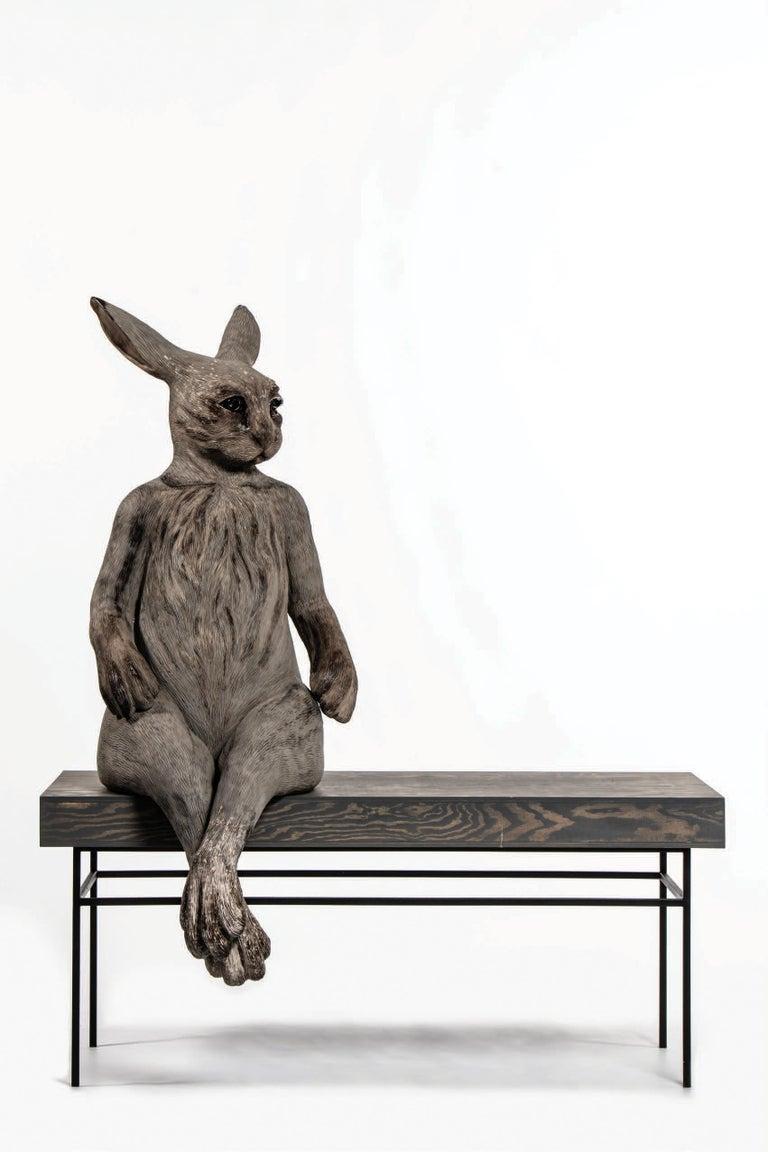 Sit Beside Me - Sculpture by Margit Brundin