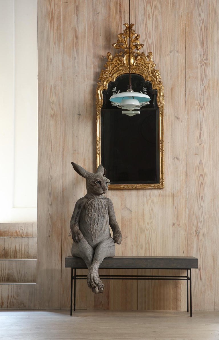 A collection of works by Swedish ceramic artist Margit Brundin, of human-scale hares created for this exhibition, A Place Behind the Oak Tree, transforms our gallery. Installed amongst the gallery's renowned collection and antiques spanning from the