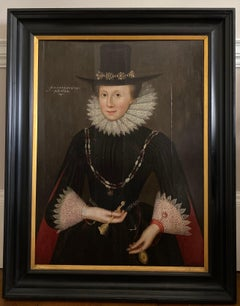 Pair of early 17th century Jacobean Portraits of Jane and William de Malbone