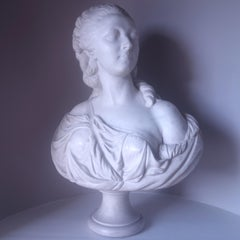 Madame du Barry marble bust by French sculptor Augustin Pajou (1730-1810)