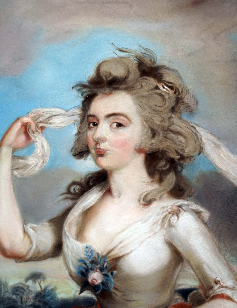 18th century portrait of the Dowager Countess Margaret Poulett - Painting by Sir Thomas Lawrence