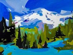 """Christine Sharp, """"Mount Tahoma, Snowy Peak"""", 2018, oil on panel, 30"""" x 40"""""""