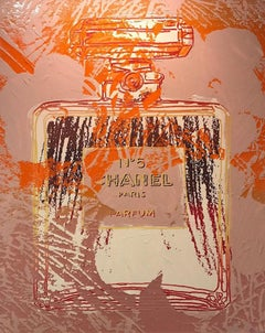'Chanel', Canvas Edition Jurgen Kuhl Silkscreen Print Paint Diamond Dust, German