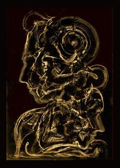 Portrait - Serpentine London - Abstract Print, Mixed Media, Digital art, garden