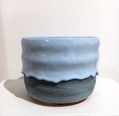 XL Kong Planter, Glazed Ceramic Bowl, Utilitarian Contemporary Design