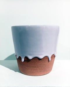 XL Teacup Planter, Ceramic Bowl with Glaze, Functional Contemporary Design