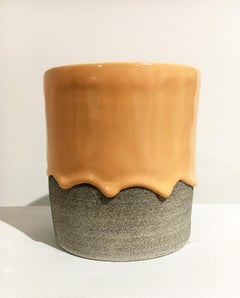 XL Tall Planter, Contemporary Functional Design, Glazed Stoneware, Ceramic