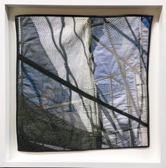 Scaffold Curtain 01, Archival Digital Print on Hand Stitched Cotton, Mixed Media