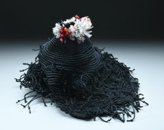 """Volcano 05"", Contemporary, Mixed Media, Textile, Sculpture, Contemporary, Fiber"