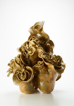 """Mimicry"", Contemporary, Ceramic, Sculpture, Glaze, Organic Form, Porcelain"