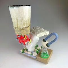 """""""Mug Composition #30"""", Contemporary, Mixed Media, Ceramic, Sculpture, Glaze"""