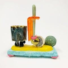 """""""Mug Composition #79"""", Contemporary, Mixed Media, Ceramic, Sculpture, Glaze"""