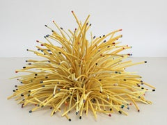 """""""Yellow Mound"""", Contemporary, Ceramic, Sculpture, Porcelain, Assemblage, Yellow"""