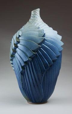 """Wings"", Contemporary, Ceramic, Sculpture, Stoneware, Glaze, Geometric, Pattern"
