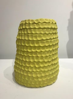 """Medium Yellow Hive"", Contemporary, Ceramic, Sculpture, Design, Stoneware, Glaze"