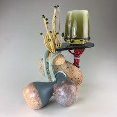 """""""Mug Composition #29"""", Contemporary, Ceramic, Sculpture, Mixed Media, Glaze"""