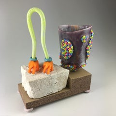 """""""Mug Composition #18"""", Contemporary, Ceramic, Sculpture, Mixed Media, Glaze"""