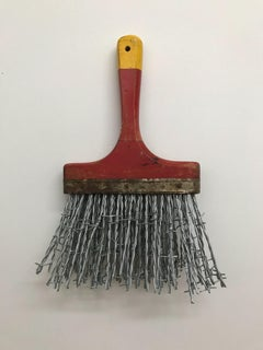 """""""Barbed Wire Brush"""", Contemporary, Mixed Media, Sculpture, Found Objects"""