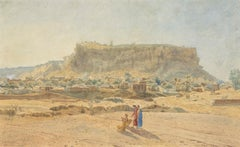 The ancient fort of Gwalior, India by Jules Schaumburg, Belgian, 19th Century