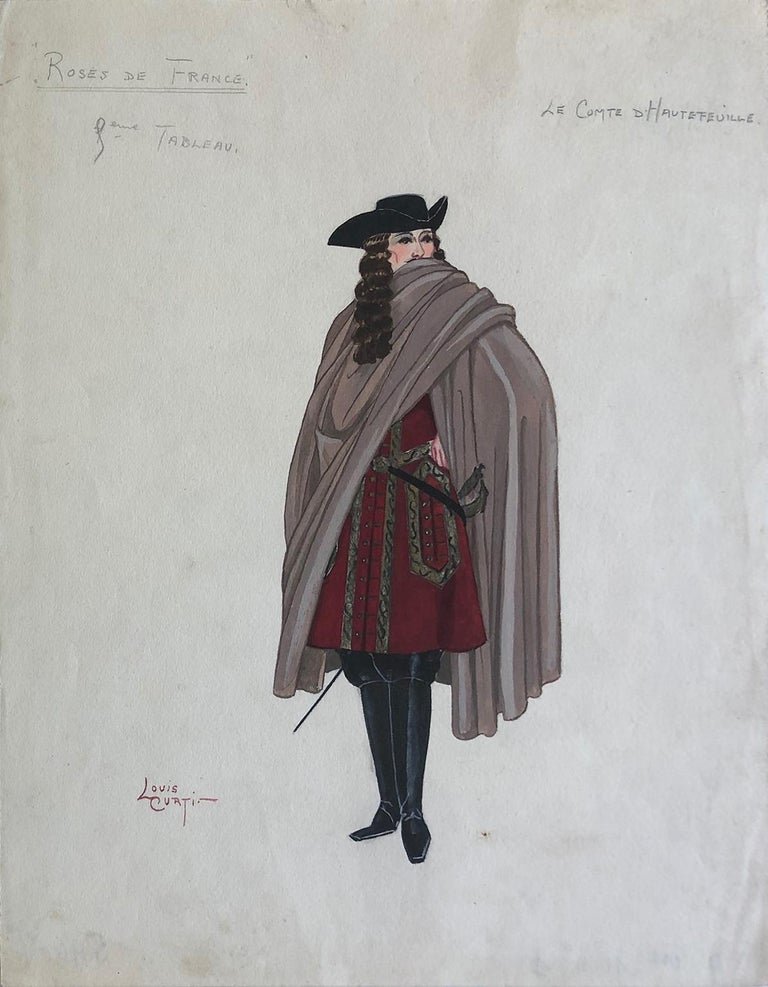 "Louis Curti Opera Costume Design 1933  ""Le Comte D Hautefeuille"" - Art by Louis Curti"