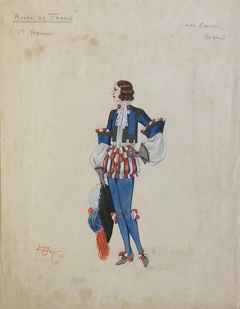 "Louis Curti Opera Costume Design 1933  ""Les Cadets"" - Art by Louis Curti"