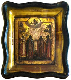 Four Saints Orthodox Icon - Ex Collection of Alitalia CEO