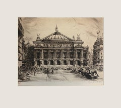 Jean Jules Dufour (French 1889 - 1945) - The Palais Garnier Opera House, Paris