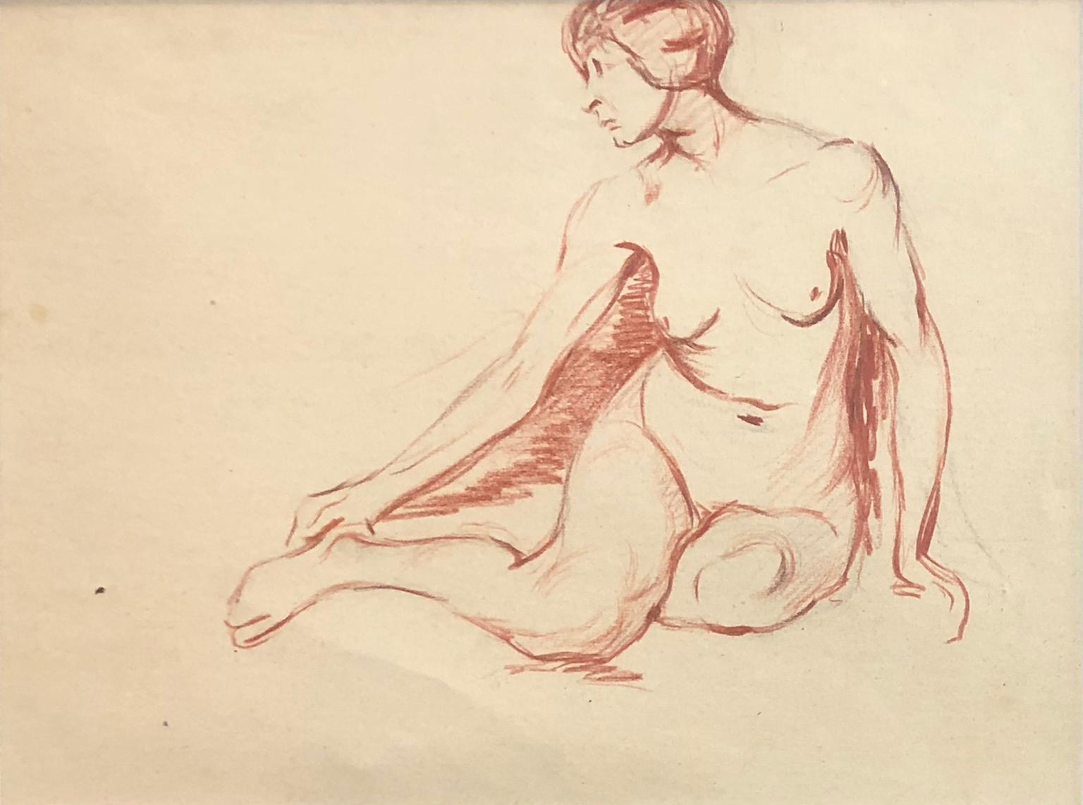 Australian School - Female Nude Study - Academic - Circa 1950s