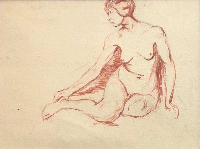Australian School - Female Nude Study - Academic - Circa 1950s - Art by Unknown