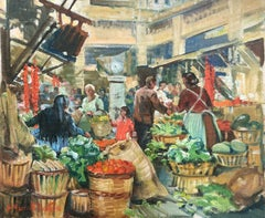 Market Scene - Mercado de Santa Catalina, Palma, Spain (December 1957)