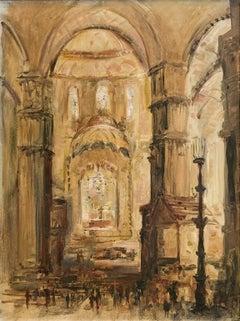 Baroque Cathedral Interior - Francis Giacco