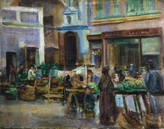 A Market, Sevilla - Edgar Seligman (British 1867-1958)