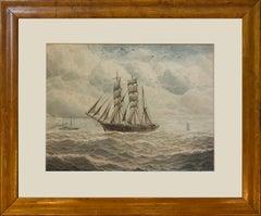 Ships at Sea - Norman Septimus Boyce (British 1895-1962)