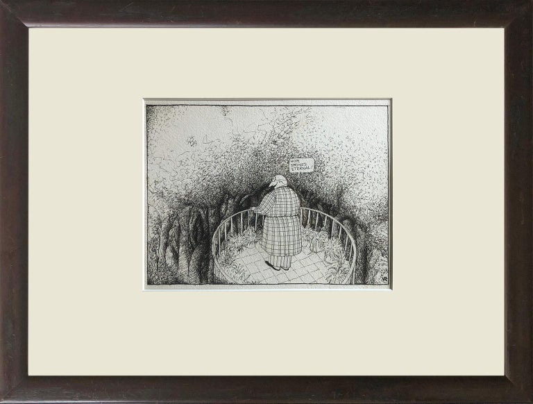 "This is a great opportunity to own three original works by American cartoonist Victoria Roberts. Each initialed ""VR"" in the bottom right hand corner and titled ""Hope Springs Eternal"", ""The Empire State Building Detail"" and ""Back from the Holidays"""