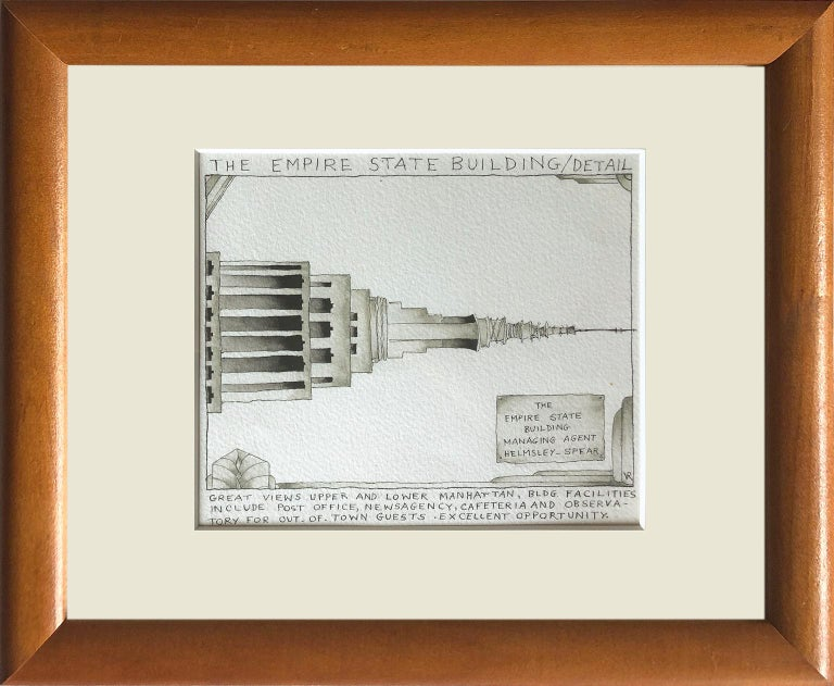 The Empire State Building Detail - Hope Springs Eternal - Back from the Holidays - Other Art Style Art by Victoria Roberts