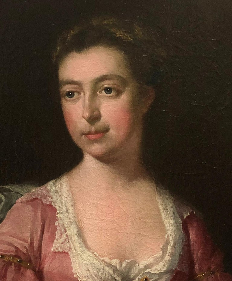 Portrait of a lady - Circle of Sir Godfrey Kneller For Sale 2