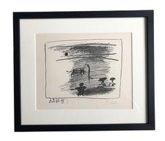 Picasso Lithograph 'Les Banderilles', 1961