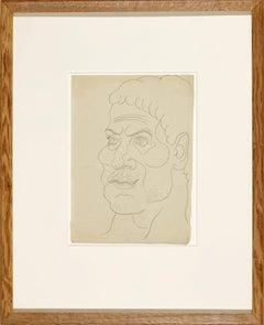 Pablo Picasso 'Visage D'Homme vers la Gauche' Drawing, 1914