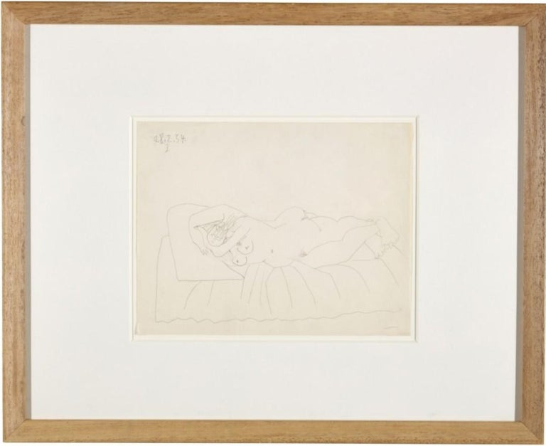 Pablo Picasso Drawing 'Nu couché endormi' Drawing 1954 - Art by Pablo Picasso