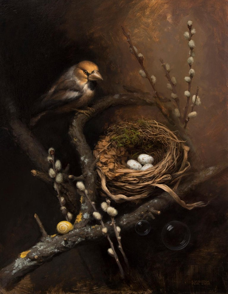 Lyubena Fox Figurative Painting - The Nest