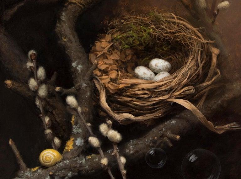 The Nest - Painting by Lyubena Fox