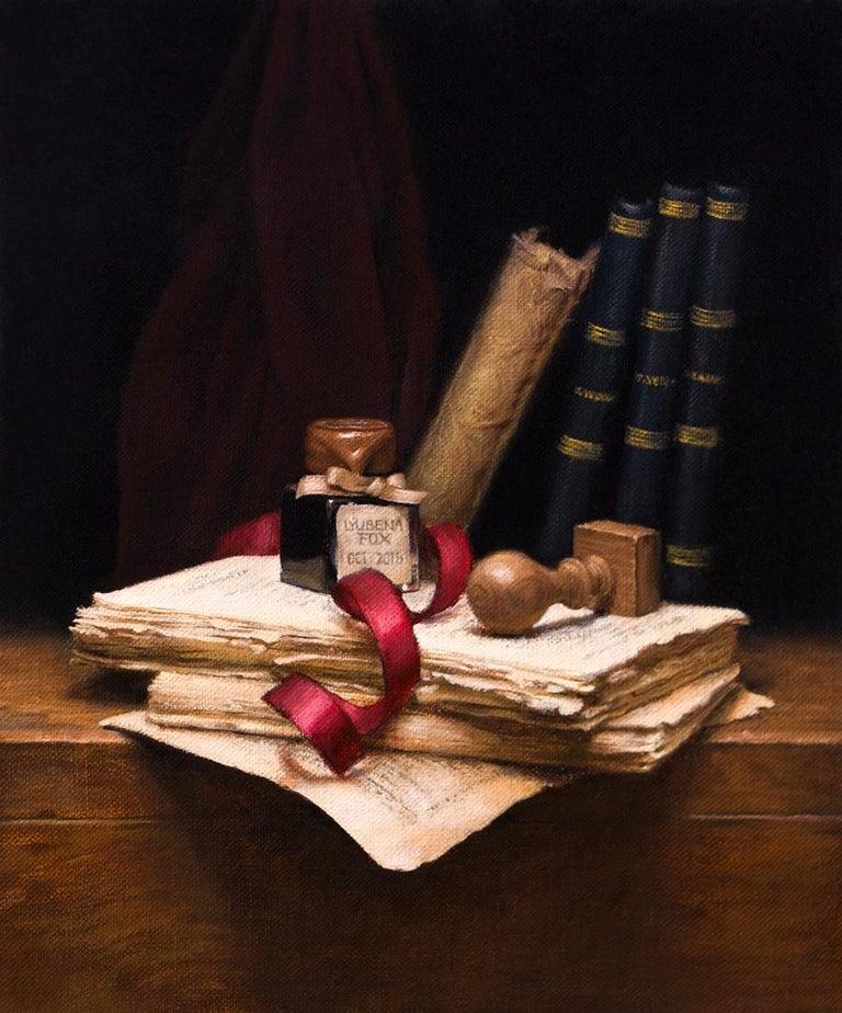 Lyubena Fox Still-Life Painting - Poet's Desk