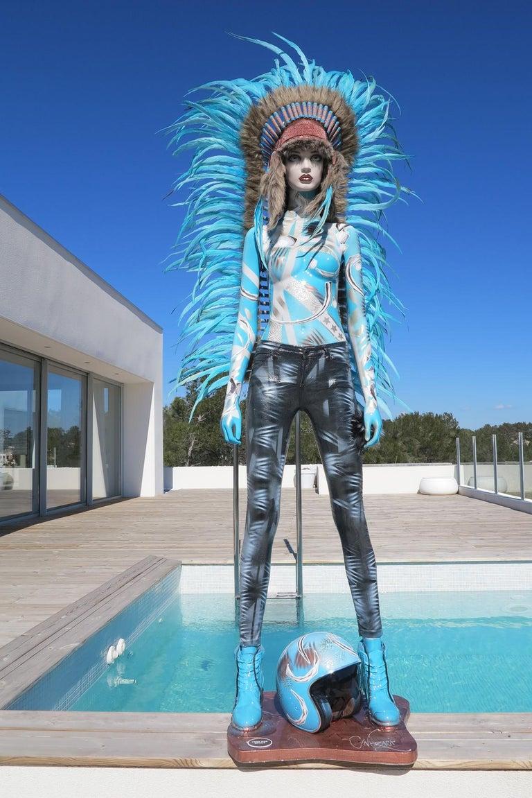 David Cintract Figurative Sculpture - Algorithm Levitation