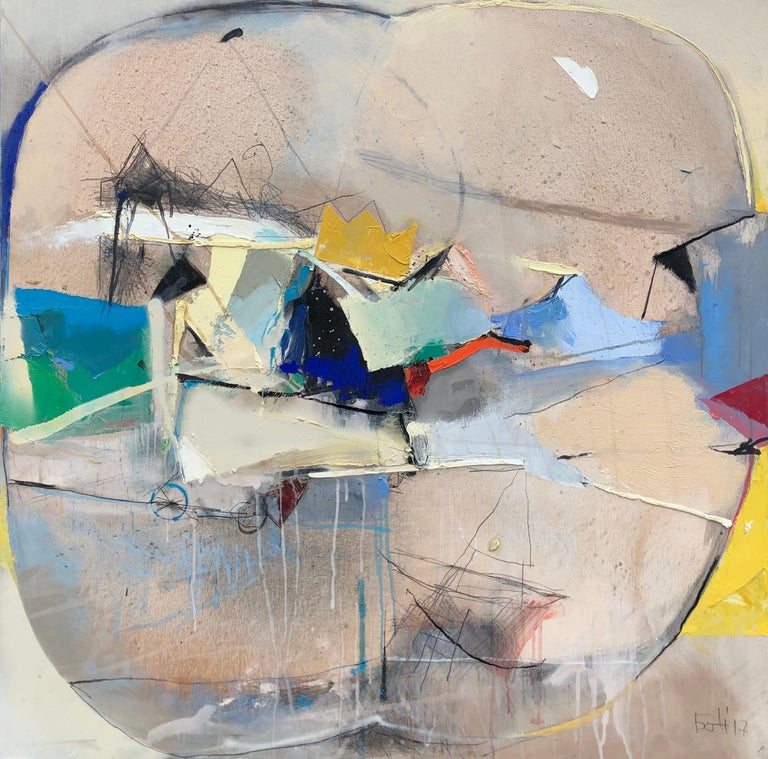 Plamen Bonev Abstract Painting - Apple II