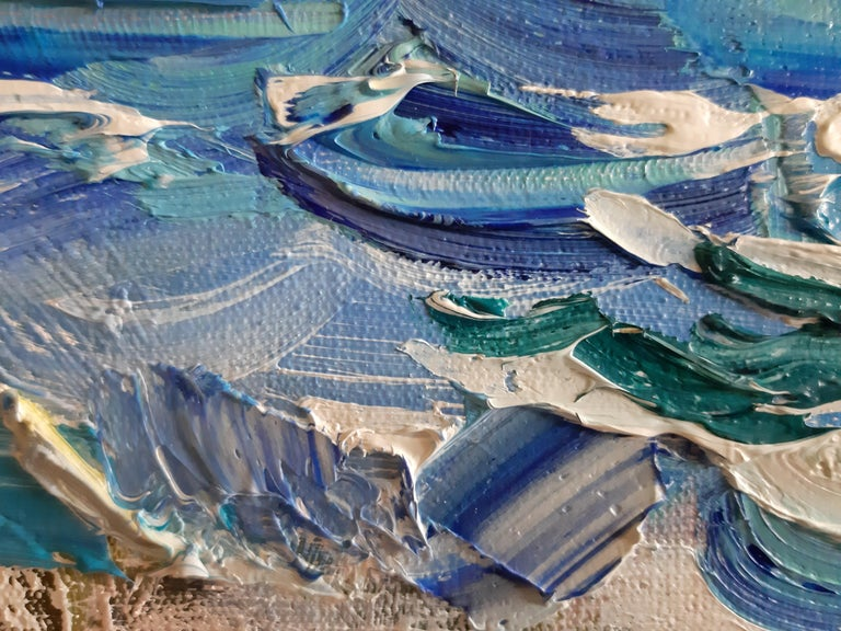 Greek Rocks - Impressionist Painting by Alina Khrapchynska