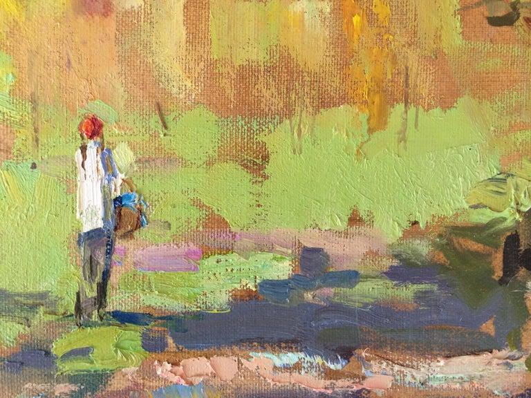 Carpathian Morning - Impressionist Painting by Zlata Shyshman