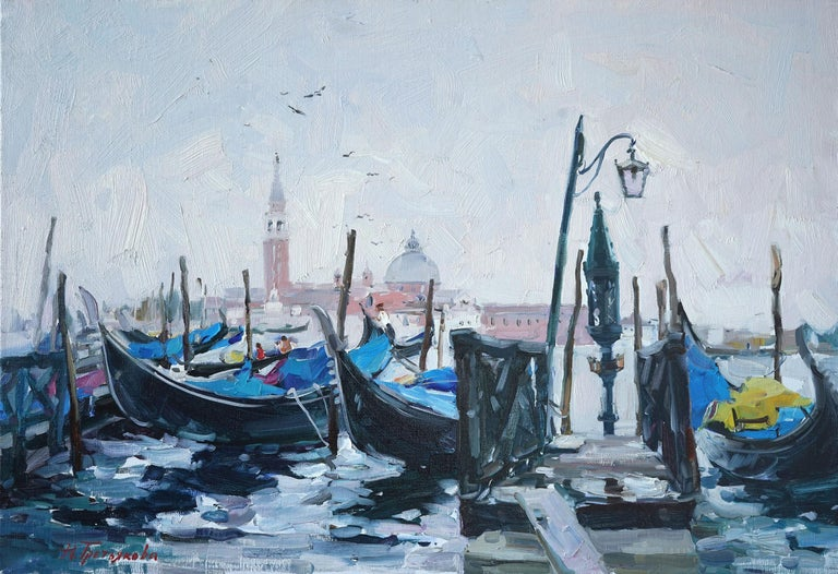"""Dawn In Venice"" is an impressionist painting, oil on canvas by Maestro Nataliya Tretykova.  The painting is unframed.  ""The impressions of Maestro Nataliya Tretykova's paintings on the viewer is so mighty, mesmerizing, grand, that it paralyzes the"