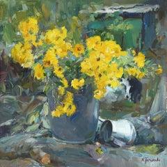 Lemon Chrysanthemums
