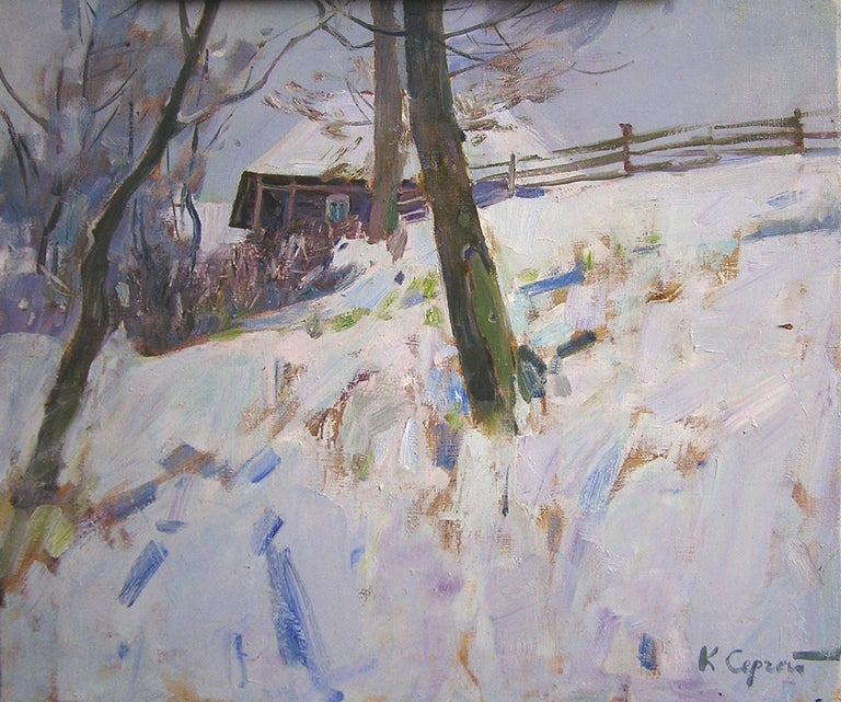 """""""My Lovely Winter"""" is a landscape painting by the impressionist Sergei Kovalenko.  Dear art lovers,  if you like the art of maestro Sergei Kovalenko please click the link to follow this artist and art gallery Snow Pearl to discover all our artists"""