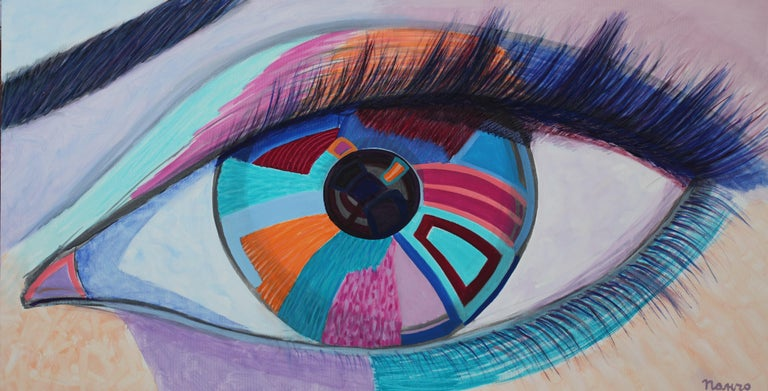 """""""Eye"""" is a painting by Maestro Pancho Malezanov.  About the painting: Style and Technic: POP ART, Contemporary, Acrylic on canvas  The painting is unframed.  """"The impressions of artist's paintings on the viewer is so mighty, mesmerizing, grand, that"""